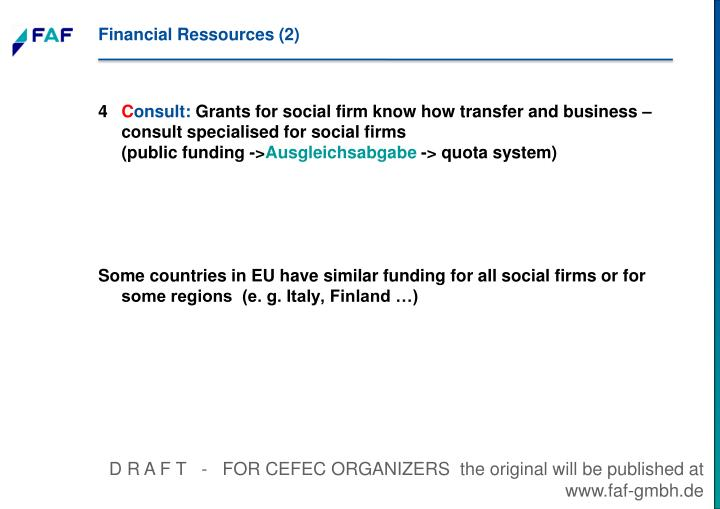 Financial Ressources (2)