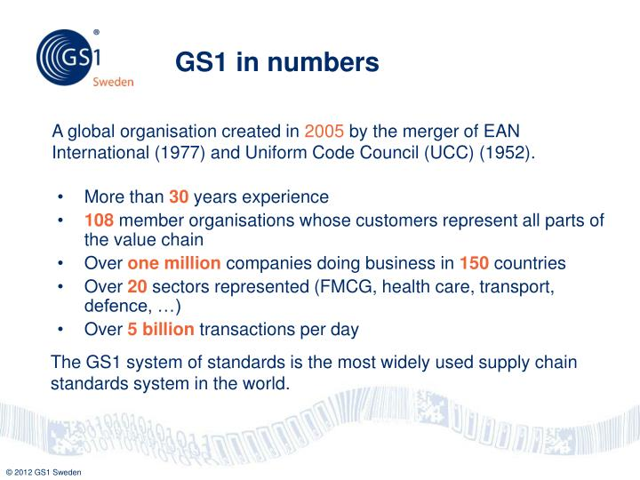 GS1 in numbers