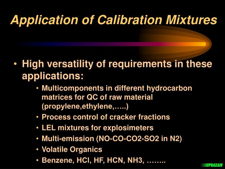 Application of calibration mixtures1