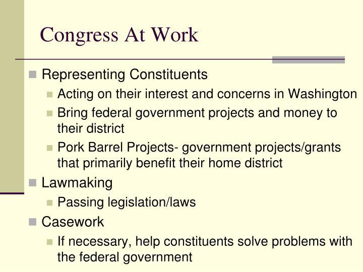 Congress At Work
