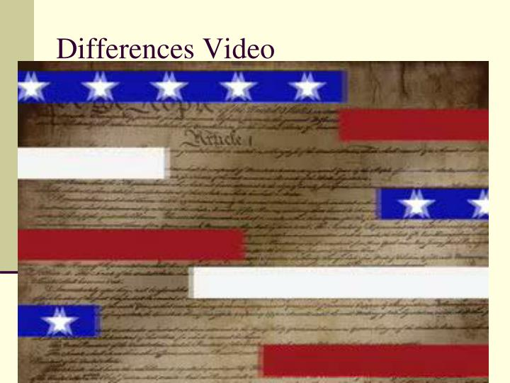 Differences Video