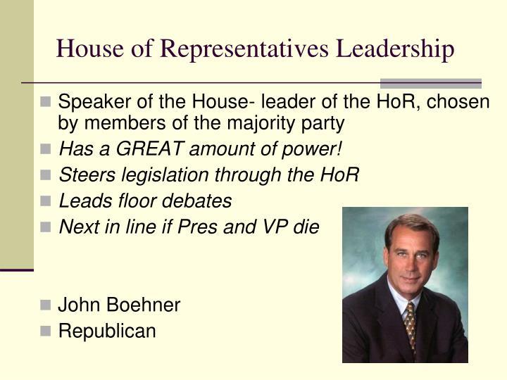 House of Representatives Leadership