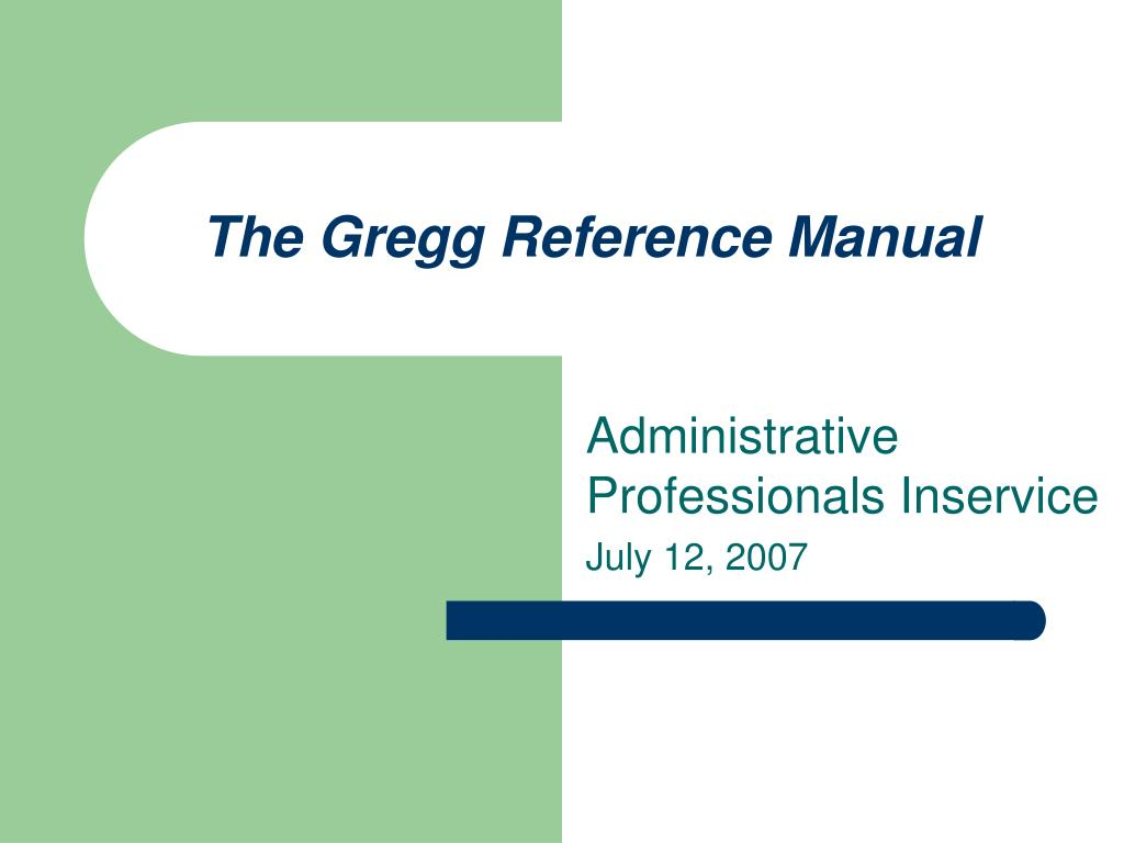 the gregg reference manual n.