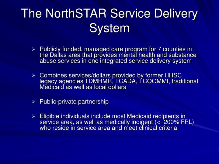the northstar service delivery system n.