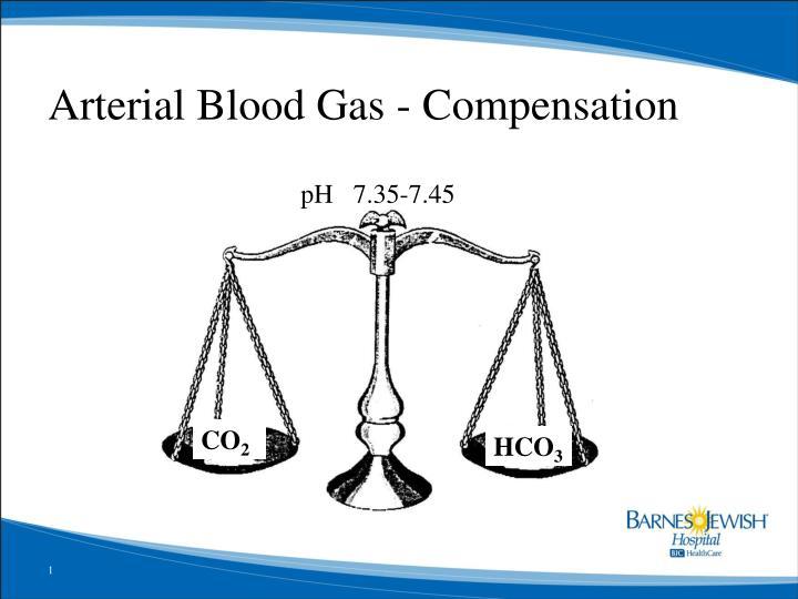 arterial blood gas compensation n.