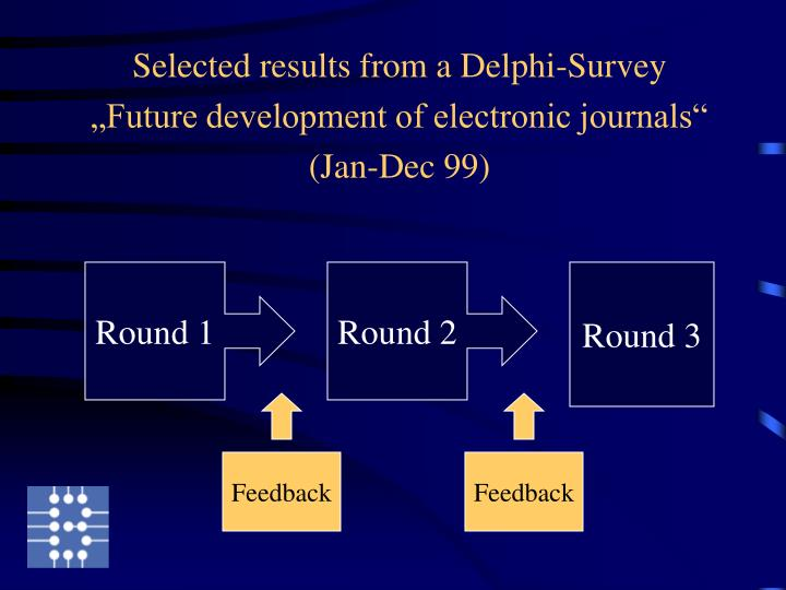 Selected results from a Delphi-Survey