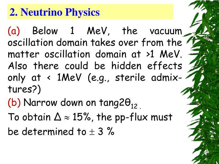 2. Neutrino Physics