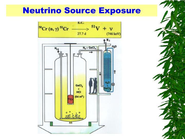 Neutrino Source Exposure