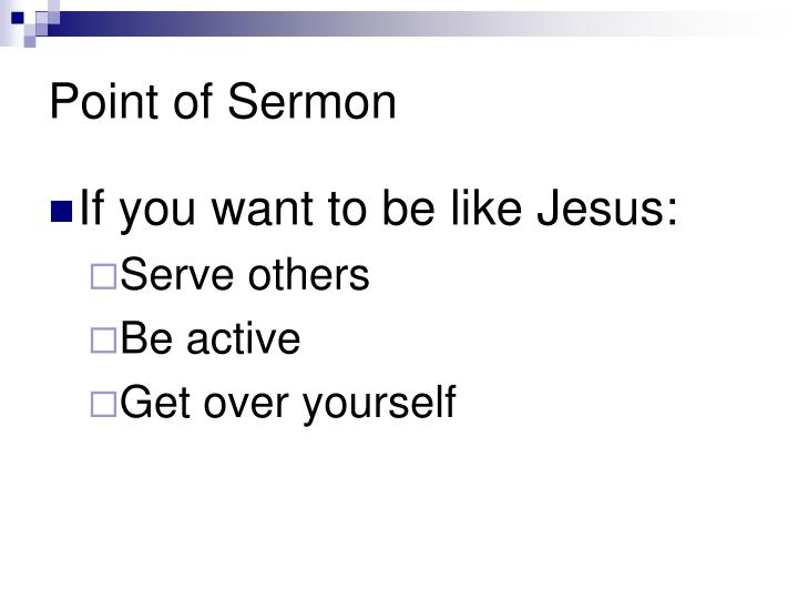 Point of Sermon