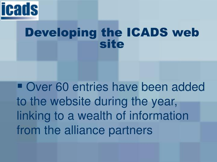 Developing the ICADS web site