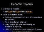 genomic repeats