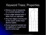 keyword trees properties