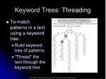 keyword trees threading