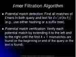 l mer filtration algorithm
