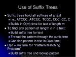 use of suffix trees