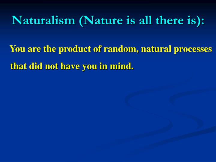 Naturalism (Nature is all there is):