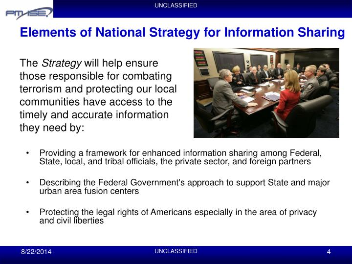 Elements of National Strategy for Information Sharing