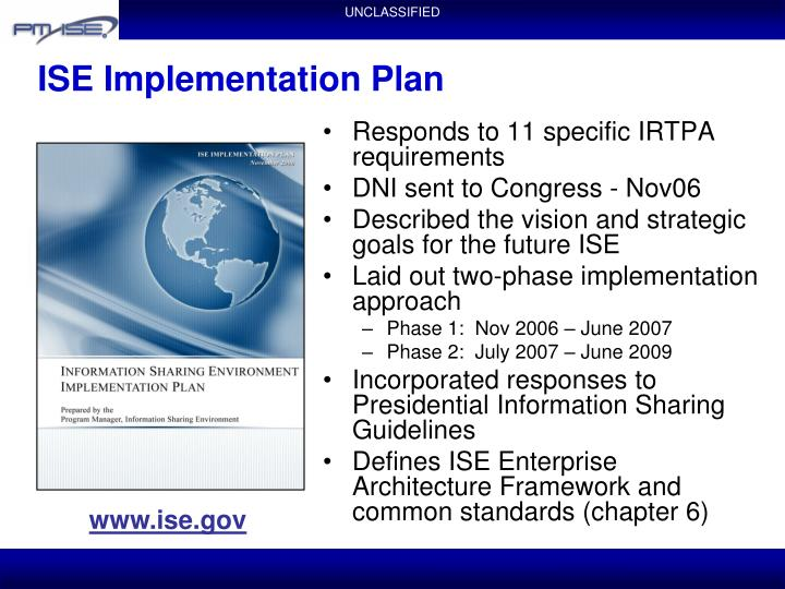 ISE Implementation Plan