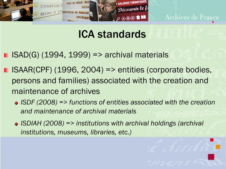 ICA standards