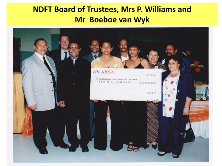 NDFT Board of Trustees, Mrs P. Williams and