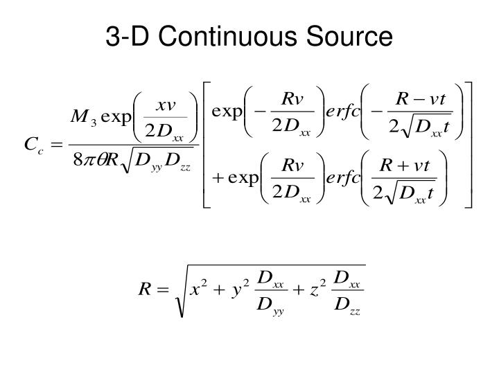 3-D Continuous Source