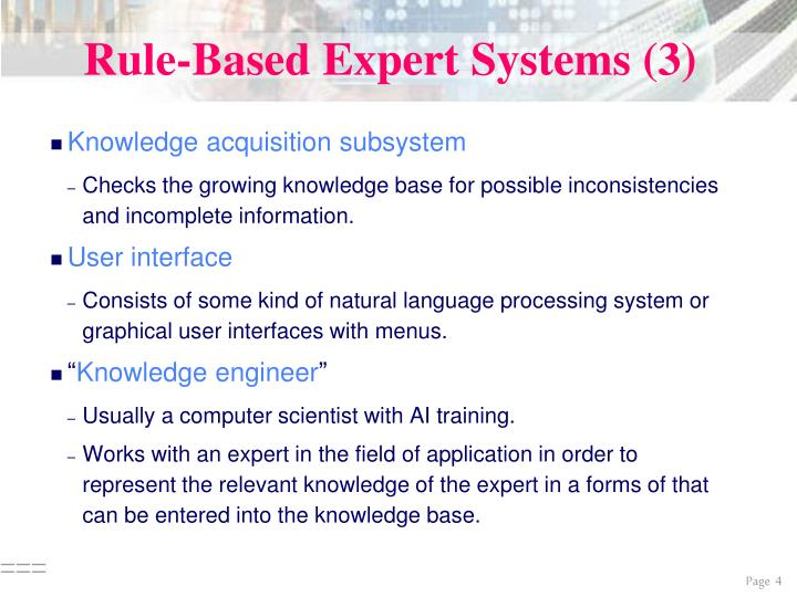 Rule-Based Expert Systems (3)