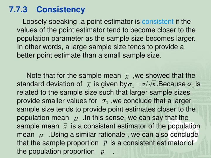 7.7.3    Consistency