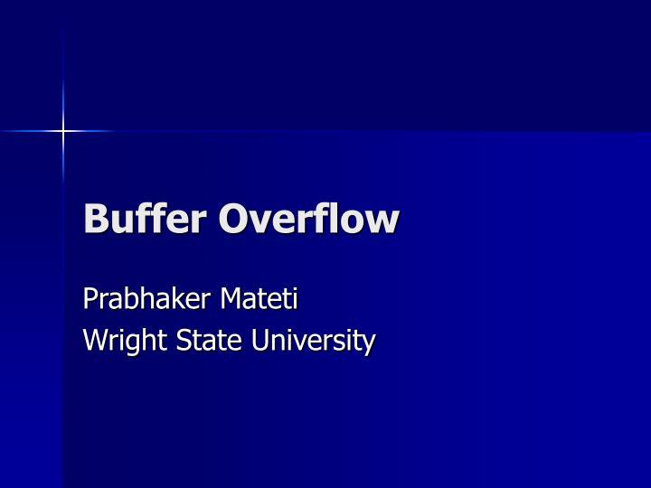 buffer overflow n.
