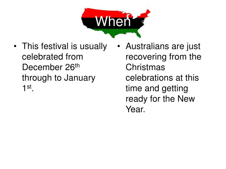 This festival is usually celebrated from December 26