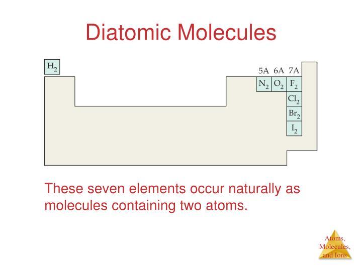Diatomic Molecules
