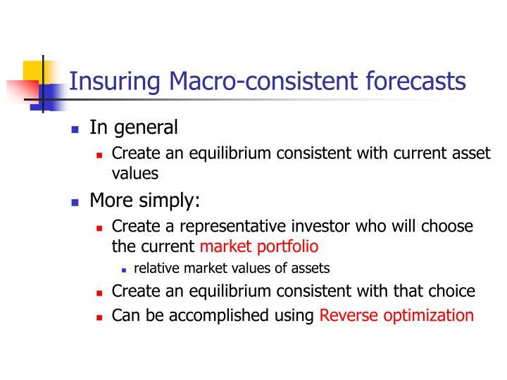 Insuring Macro-consistent forecasts