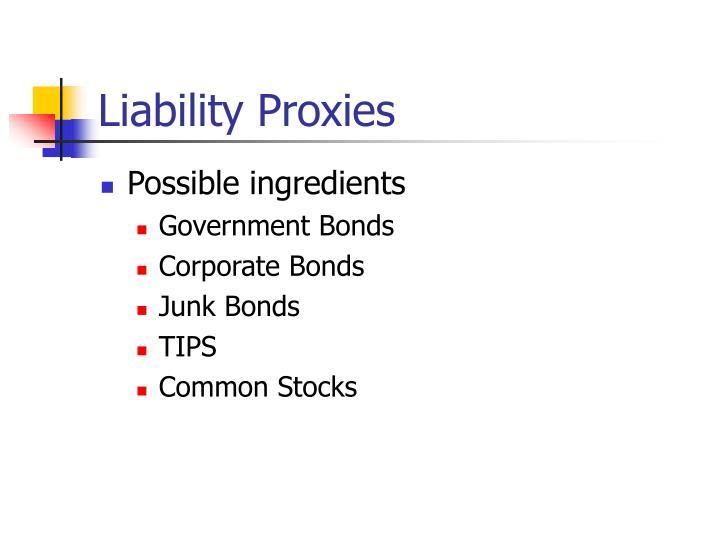 Liability Proxies
