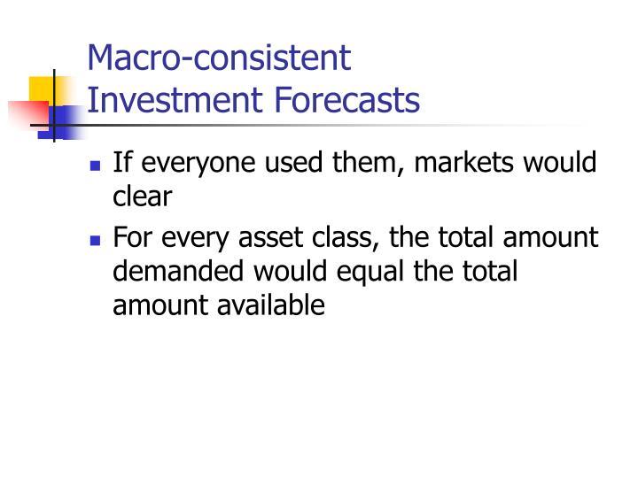 Macro-consistent