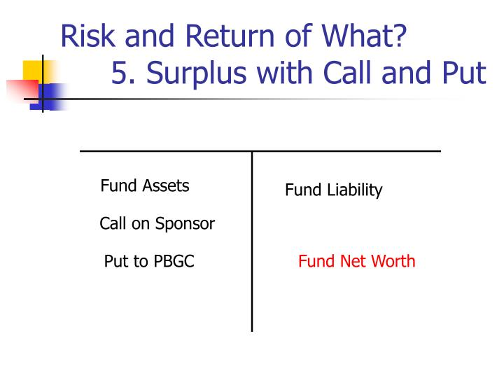 Risk and Return of What?