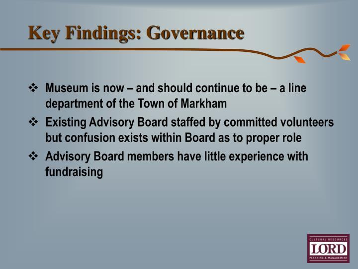 Key Findings: Governance
