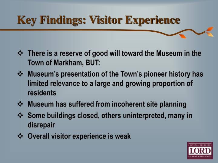 Key Findings: Visitor Experience