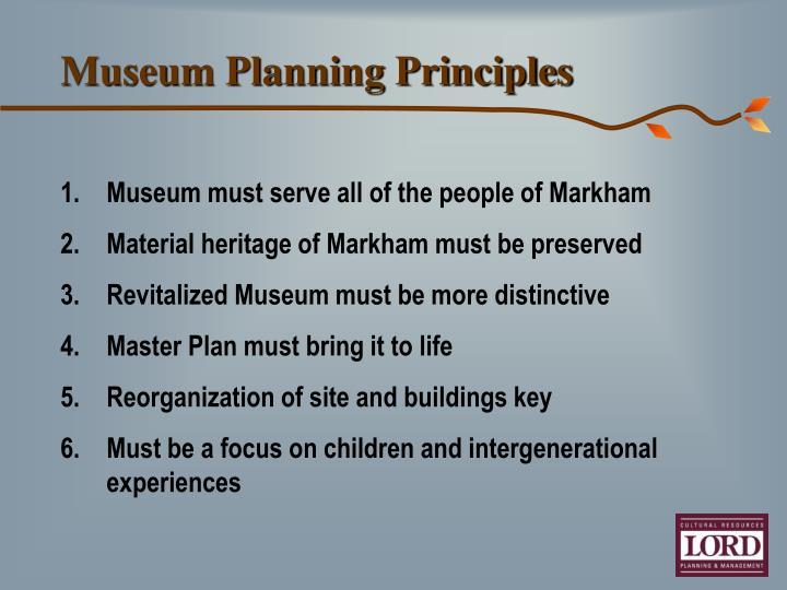 Museum Planning Principles