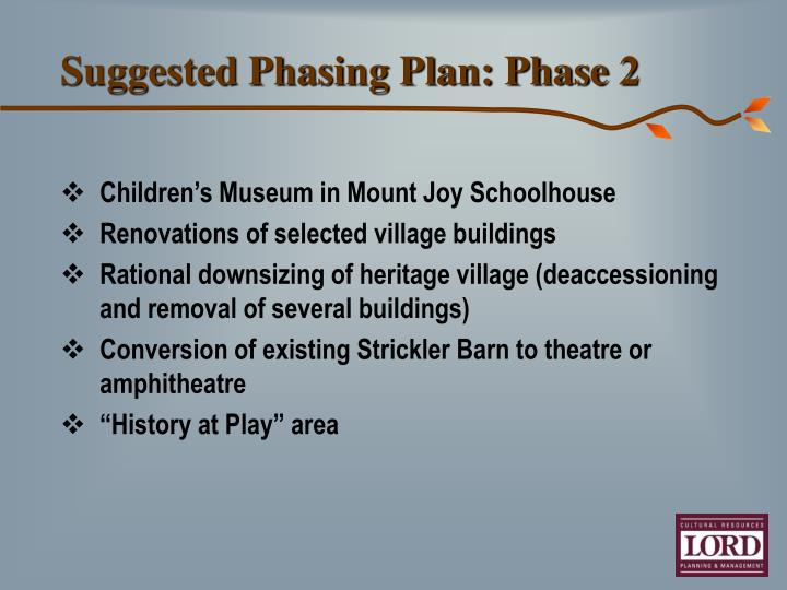 Suggested Phasing Plan: Phase 2