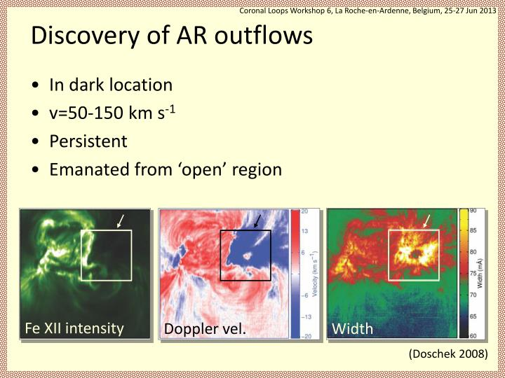 Discovery of ar outflows