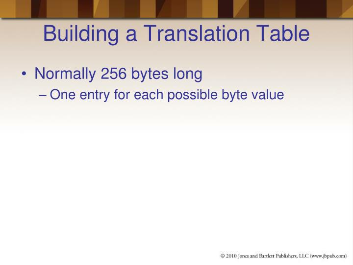 Building a Translation Table