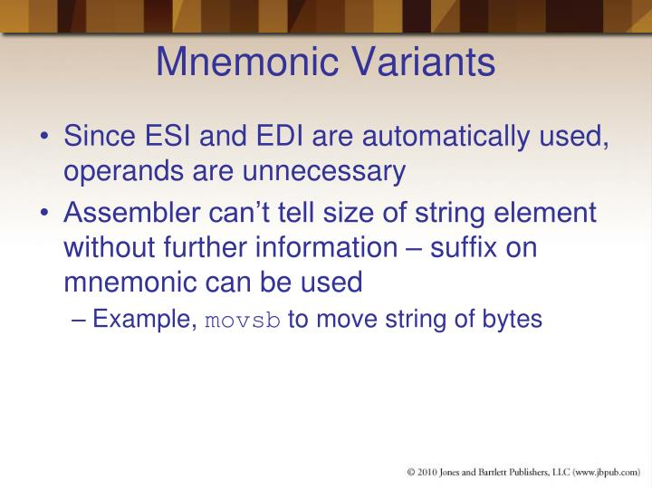 Mnemonic Variants