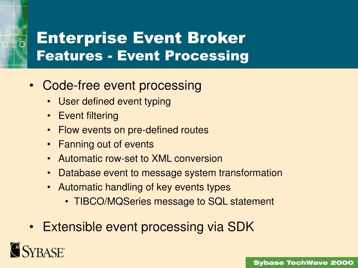 Code-free event processing