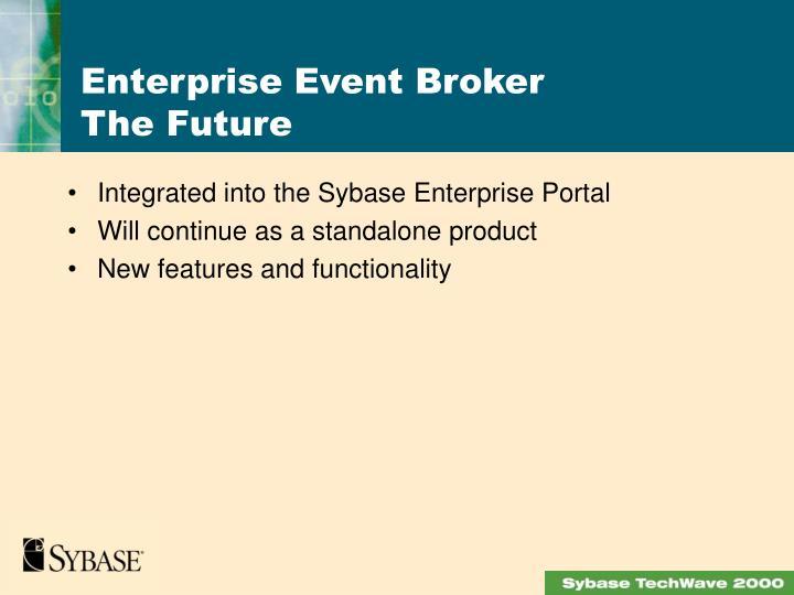 Integrated into the Sybase Enterprise Portal