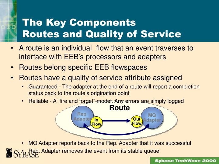 A route is an individual  flow that an event traverses to