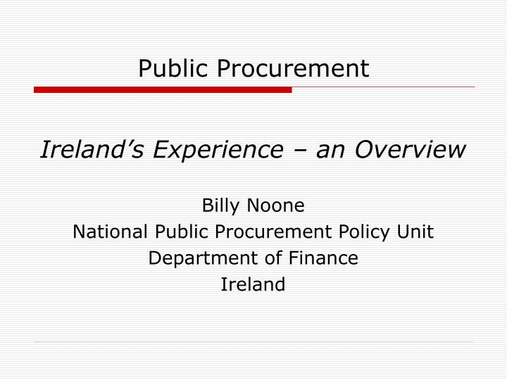 public procurement n.
