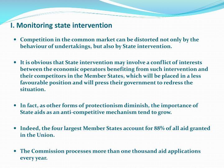I monitoring state intervention