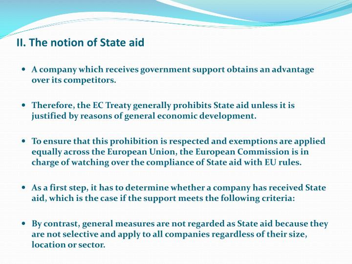 Ii the notion of state aid