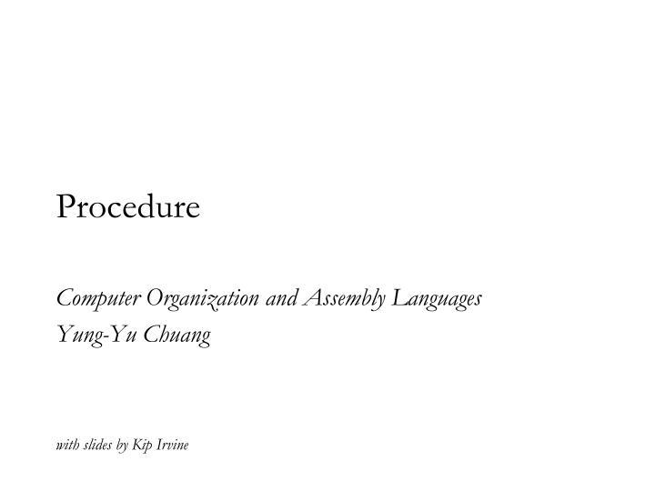 procedure n.