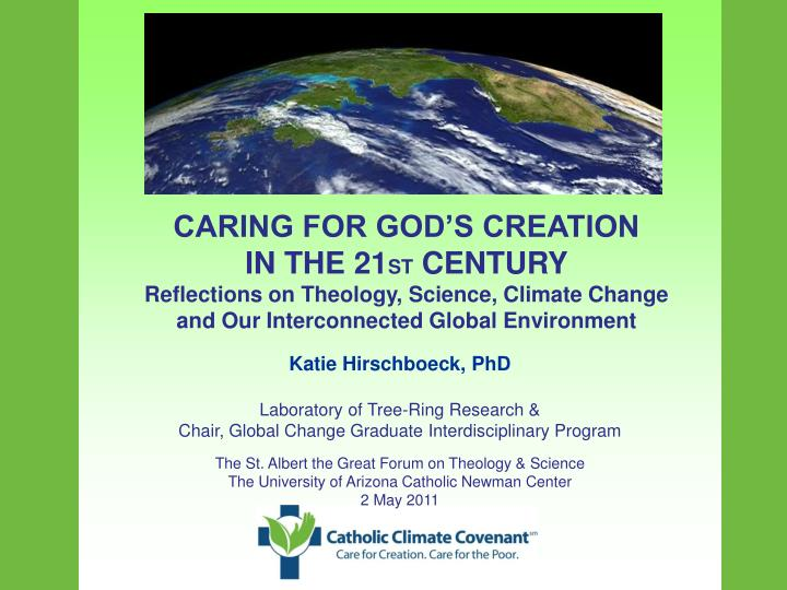 CARING FOR GOD'S CREATION