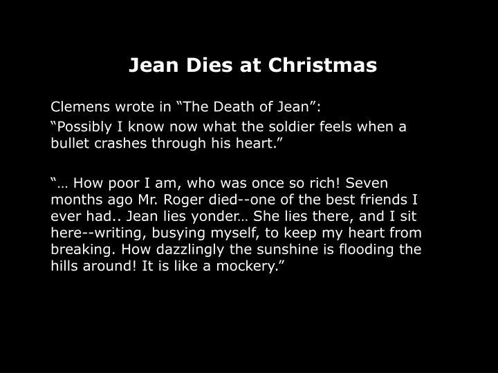 Jean Dies at Christmas